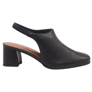 Leather low heels slingback in Black - AC3604