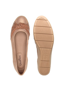 Low Heel  in Blush  and Brown- AC2903