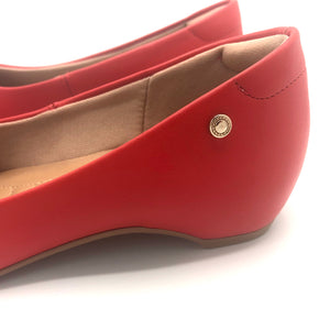 round-toe flat  in Red-1264-028