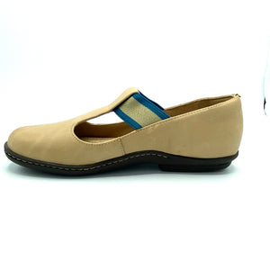 Comfy Flat  in Camel Leather-12041