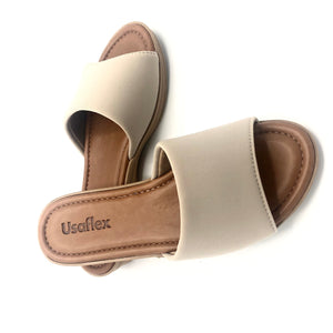 Lycra/Neoprene Travel Sandal in Tan - V1206