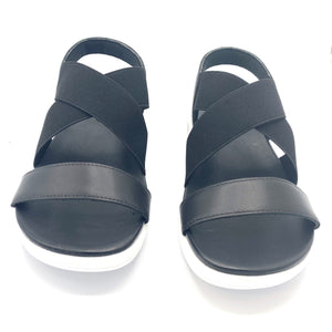 Grosgrain Sandal in Black - AC4301