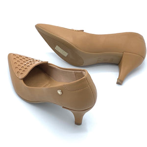 Caprina  Casual low heels in Camel - 1278-021