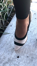 Load image into Gallery viewer, Mid Heel Pumps in OFF white and Black- 1278-039