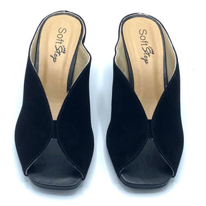 Leather Clog in Black - 400803