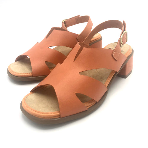 Low heel Sandal in Orange-8762