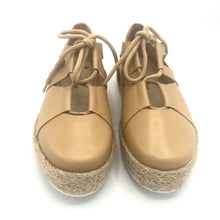 Load image into Gallery viewer, Espadrille leather Tennis Shoes in Camel  - 4702T