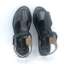 Load image into Gallery viewer, Leather Sandal in Black - 8639