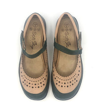Load image into Gallery viewer, Comfy Flat  in Olive and Nude Leather-12042