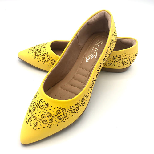 Comfy Flat  in  Yellow-1266-035