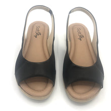Load image into Gallery viewer, Super Soft insole Slingback Black Sandal in Black- 41013