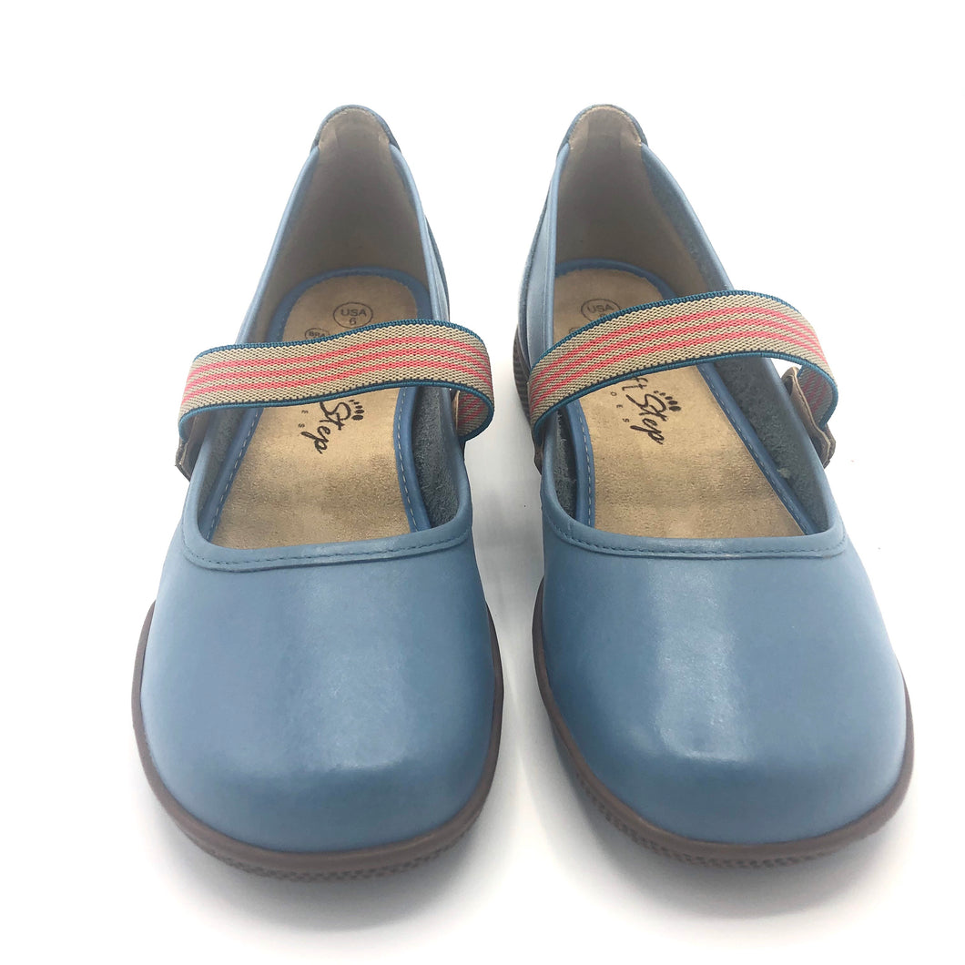 Leather Clog in Blue - 11060