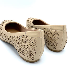 round-toe flat  in Beige-1264-038