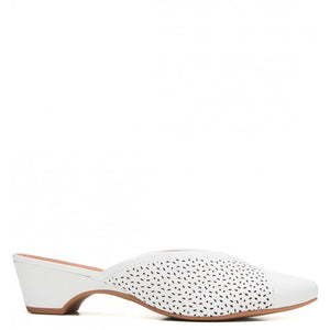 Leather Mule in White - AC3405