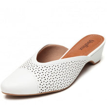 Load image into Gallery viewer, Leather Mule in White - AC3405