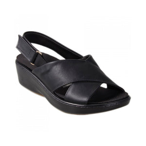 Spa Line Wedge Sandal in Black   - 568017BL