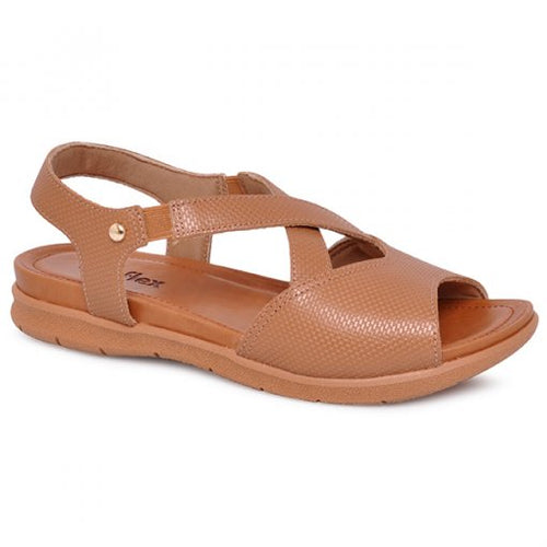 Leather Sandal in Camel -AA3007