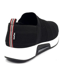 Load image into Gallery viewer, Tennis Shoe Tricot in Black - Easy Fit AA5908BL