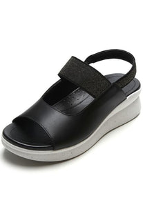 Easy fit Platform Sandal in Black - AC4401