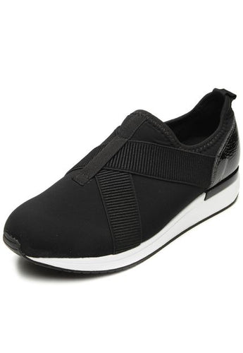 Cloth Sporty Easy Fit Tennis Shoe in Black- AC5205