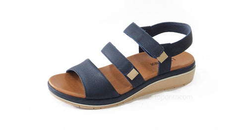 Napa Travel leather Sandal in Navy Blue - AA5705