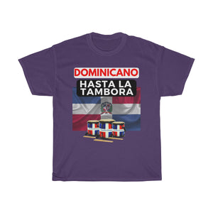 Dominicano Hasta La Tambora Unisex Heavy Cotton Tee