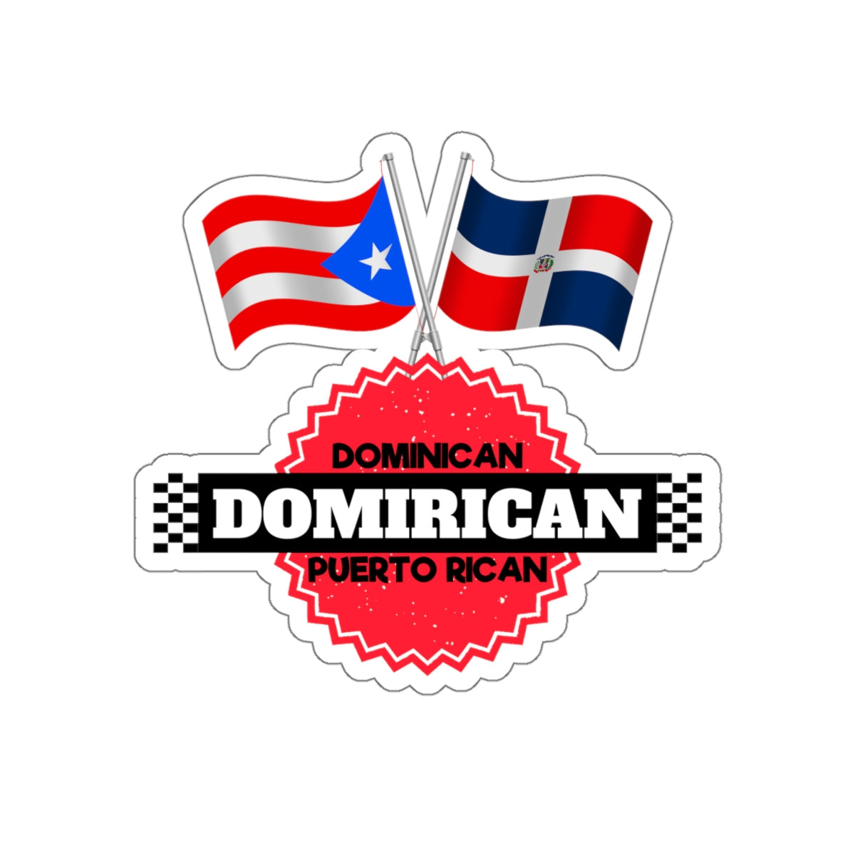 Domirican Kiss-Cut Stickers by Amazing Products eStore