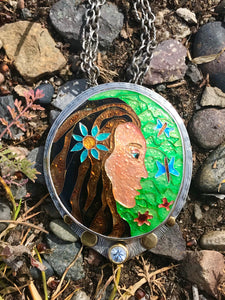 A beautiful cloisonné enamel jewel made into a fine jewelry heirloom.