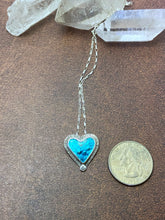 Load image into Gallery viewer, Blue Enamel Heart Necklace