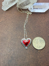 Load image into Gallery viewer, Red Enamel Heart Necklace