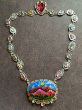 Load image into Gallery viewer, Cloisonné Enamel Desert Landscape Necklace