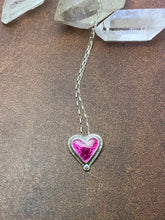 Load image into Gallery viewer, Pink Enamel Heart Necklace