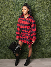Load image into Gallery viewer, plaid mini dress