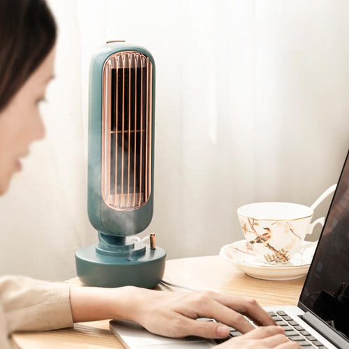 Tower Fan Mist Humidifier Personal Air Conditioner