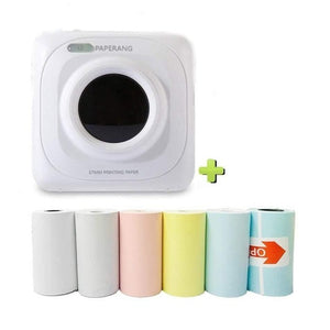trishashops Mini Printer Bluetooth Mini Thermal Photo Printer