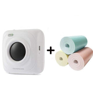 trishashops Mini Printer P1 3 Rolls Paper 2 Bluetooth Mini Thermal Photo Printer