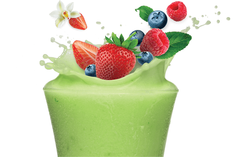 Berry Green Protein Shake Image