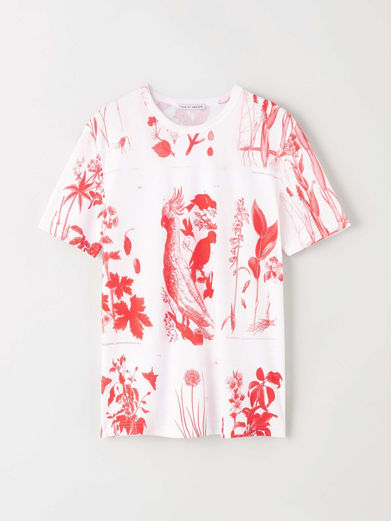 darian aop t shirt flame red t68577001 Tiger of Sweden