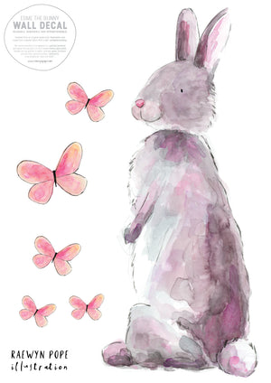 Esme the Bunny Fabric Wall Decal
