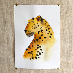 Cheetah Original Painting - Raewyn Pope Illustration