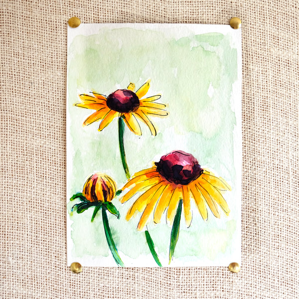Flower Study #1 Original Painting - Raewyn Pope Illustration