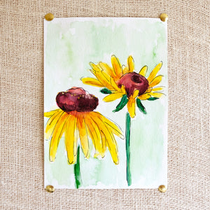 Flower Study #2 Original Painting - Raewyn Pope Illustration