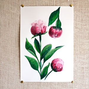Peonies Original Painting