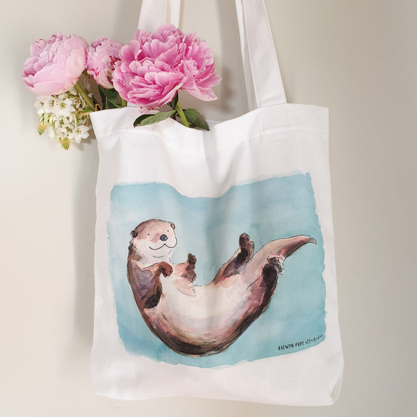 Otter Tote Bag - Raewyn Pope Illustration