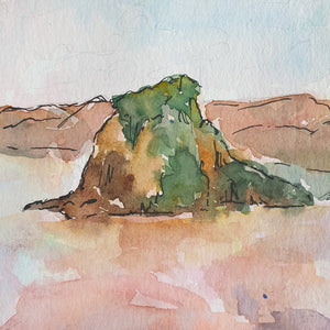 Piha Original Painting - Raewyn Pope Illustration