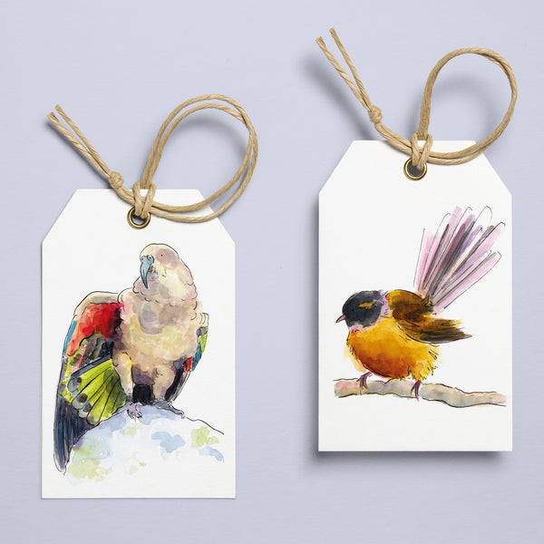 NZ Birds Christmas Tags - Printable