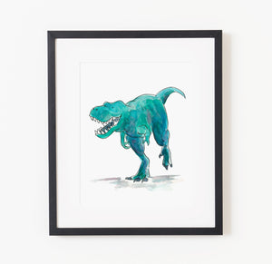 Colin the T-Rex - Raewyn Pope Illustration