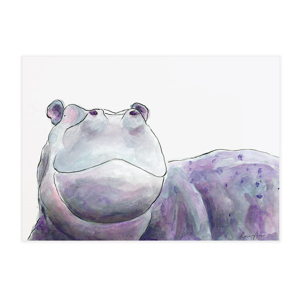 Derek the Hippo - Raewyn Pope Illustration