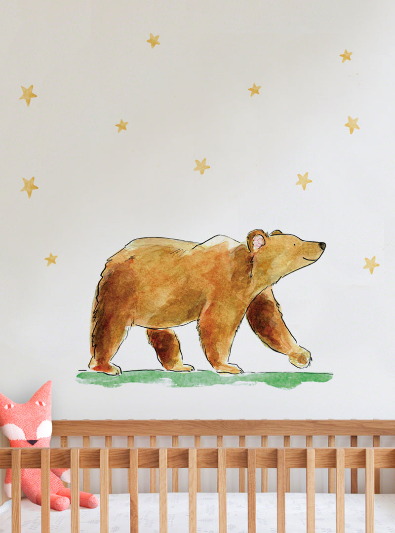 Benji Bear Fabric Wall Decal - Raewyn Pope Illustration
