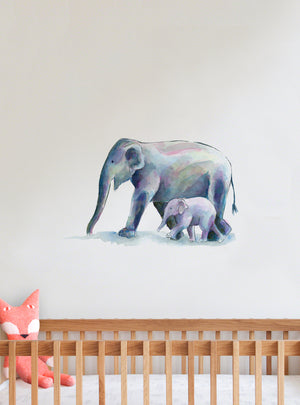 Elephant Fabric Wall Decal